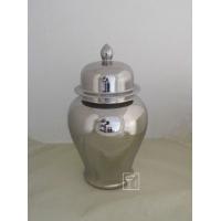 景德镇厂家生产镀银陶瓷将军罐 将军罐摆件