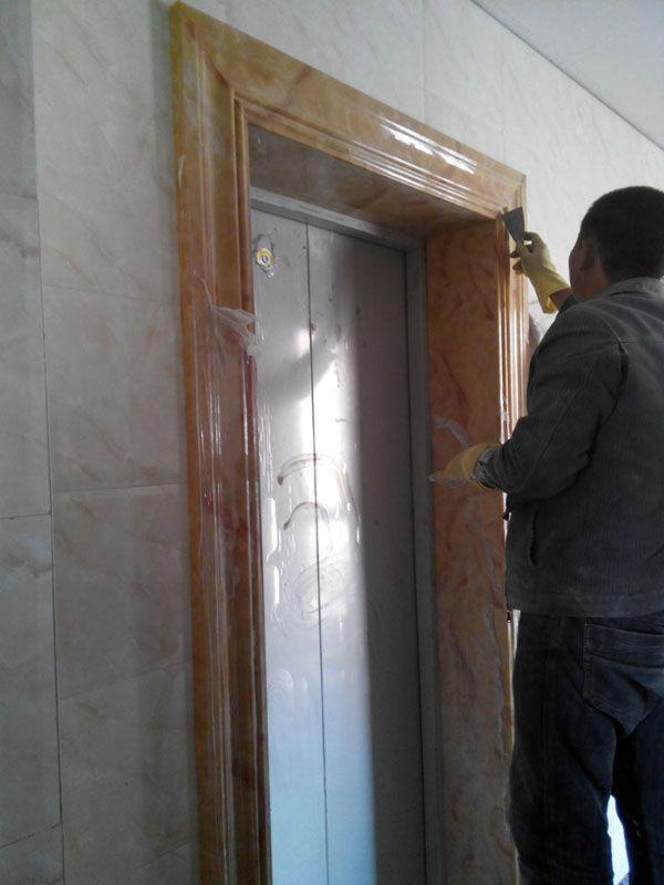 大理石门套 电梯门套 人造石门套