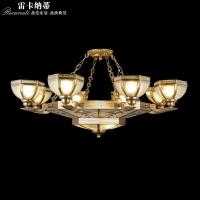 雷卡纳蒂欧式全铜灯客厅大吊灯别墅客厅卧室大吊灯