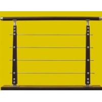 瑞王楼梯-精品围栏系列-不锈钢夹木片拉丝柱子
