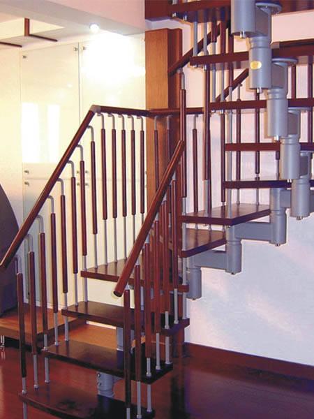 瑞王楼梯 瑞王全木楼梯系列 U型楼梯 U转套扣楼梯产品图片,瑞王楼梯