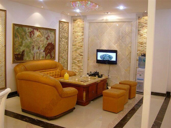 陕西仿大理石欧式罗马柱电视背景墙