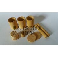 铜粉圆柱烧结 铜粉圆片滤网