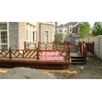 天津防腐木葡萄架围栏亭子地板木门秋千碳化木
