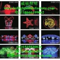 法属圭亚那平面2D图案灯圣诞灯 滴胶LED图案灯造型灯彩虹管