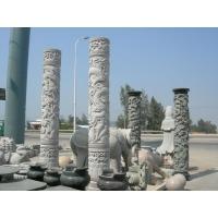 供应惠安石雕隆龙柱 石雕文化柱 寺庙龙柱雕刻