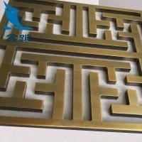 铝板雕刻镂空屏风镀古铜色  精工细作