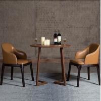 美老湿影院48试实木餐椅真皮椅休闲椅酒店咖啡餐厅椅子