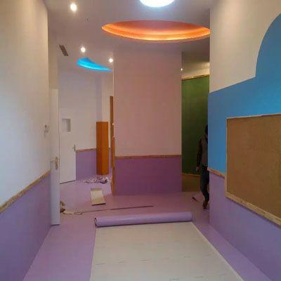 纯色塑胶地板塑美天虹地板革PVC地板 儿童塑胶地板正品保证地