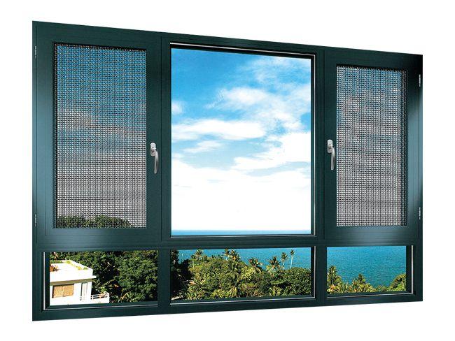 昊派门窗-100窗纱一体平开窗