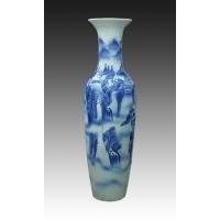 供应景德镇青花陶瓷大花瓶 手绘青花大花瓶
