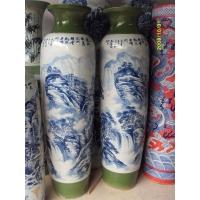 供应景德镇青花山水大花瓶 手绘青花大花瓶