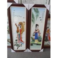 供应景德镇粉彩美女瓷板 四美瓷板 人物瓷板