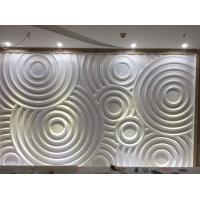 高强度增强石膏GRG白色波纹墙面浮雕造型