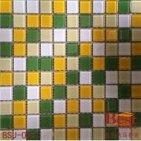 黄色混色水晶马赛克批发-最新款水晶玻璃马赛克批发价格