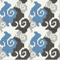 田园风格欧式马赛克拼图-专业设计马赛克墙面拼图