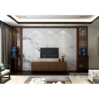 云樽 电视瓷砖背景墙客厅装饰边框线条搭配现代中式玄关 实木花