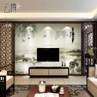 云樽 瓷砖背景墙现代中式电视背景墙瓷砖 客厅背景墙砖忆江南荷