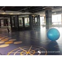 供应订制360健身房私教耐磨PVC塑胶地板
