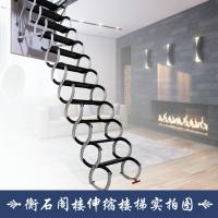 衡石半自动碳钢阁楼伸缩楼梯