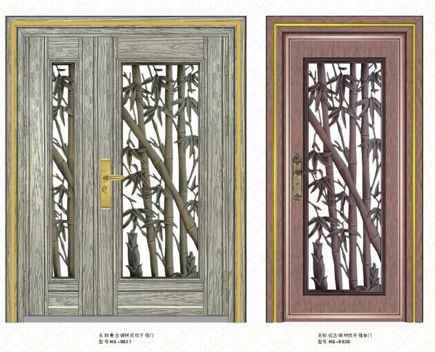 茂名中高档不锈钢防盗门 不锈钢单门 不锈钢对开门