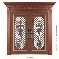 茂名高端豪华别墅罗马柱彩色不锈钢对开门