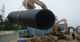成都蓝川科技中空壁塑钢缠绕排水管