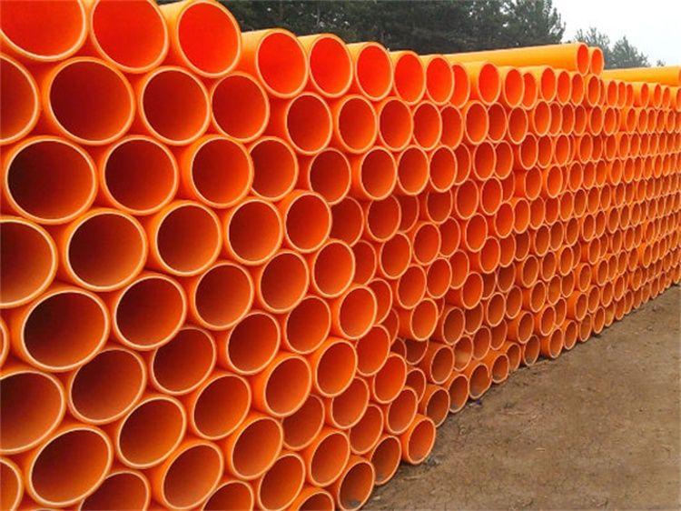 电力管厂家生产mpp电力管160 橘红色mpp顶管价格