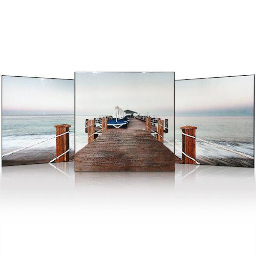 佳和佳美冰晶画背景墙画客厅悬挂画三联沙发背景画