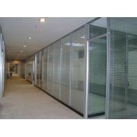 合肥办公玻璃隔断|双玻内置百叶隔断|合肥高隔间厂家