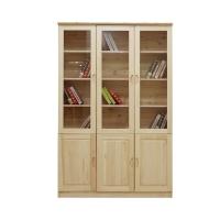 实木家具定制|实木家具|书房实木家具半玻璃书柜