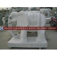 大理石汉白玉大象 石雕大象 山门大象