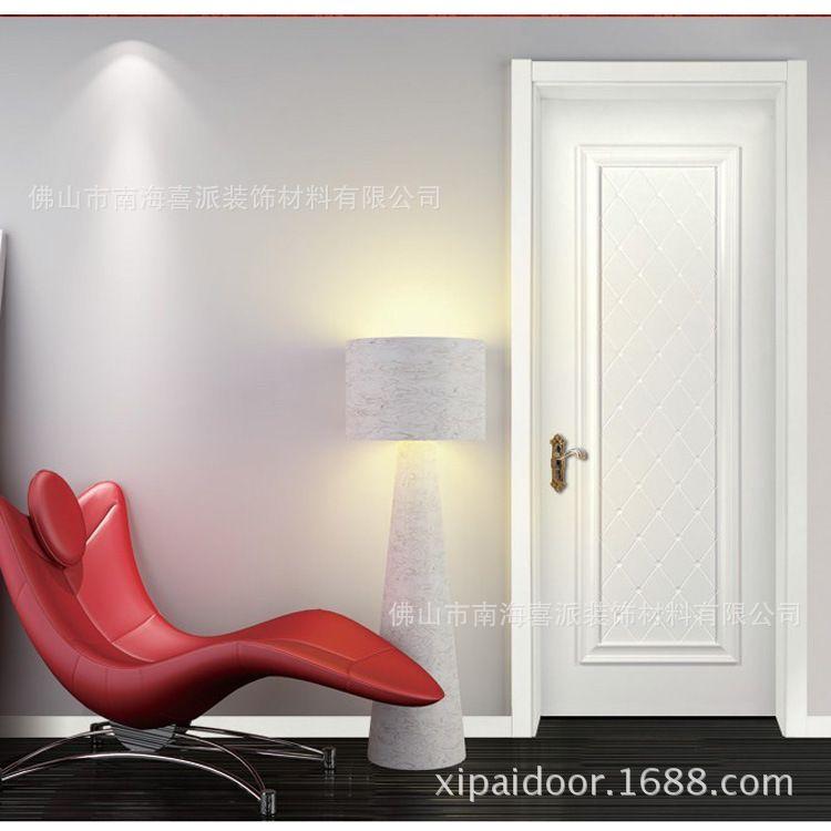 佛山厂家直销pvc免漆门 实木复合门 室内房间门出口