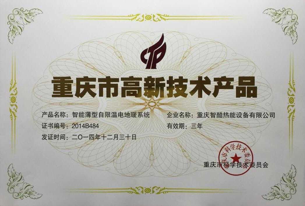 重 庆 市 高 新 技 术 产 品