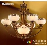 成都盛泰灯饰进口西班牙云石全铜吊灯F3-60332