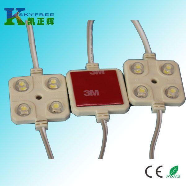 供应10x LED模组5050四灯透镜注塑防水外带5m线