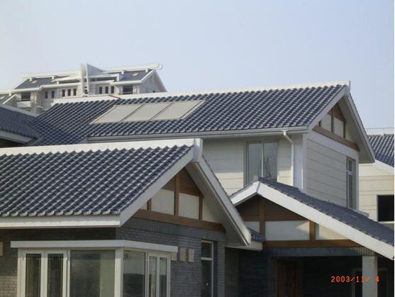 别墅琉璃瓦效果图 屋顶盖琉璃瓦效果图 琉璃瓦屋顶效果图
