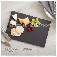 天然板岩文化石石材餐垫,黑色板岩石板餐盘