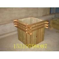 西安防腐木花箱、垃圾箱