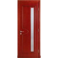 实木复合门,实木贴板门,红樱桃色实木门