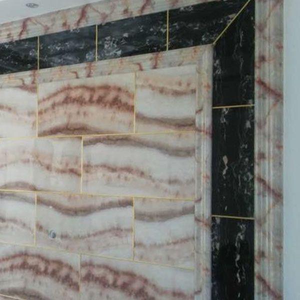 石塑线条背景墙电梯套哑口