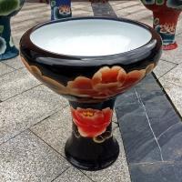 景德镇陶瓷鱼缸,高脚喷水鱼缸,龙珠缸