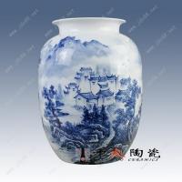 供应景德镇陶瓷青花山水花瓶