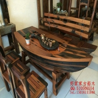 办公桌酒吧台红酒柜茶桌茶几茶台博古架餐桌沙发好家家老船木家具