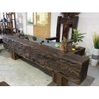 餐桌椅组合实木红木老船木家具