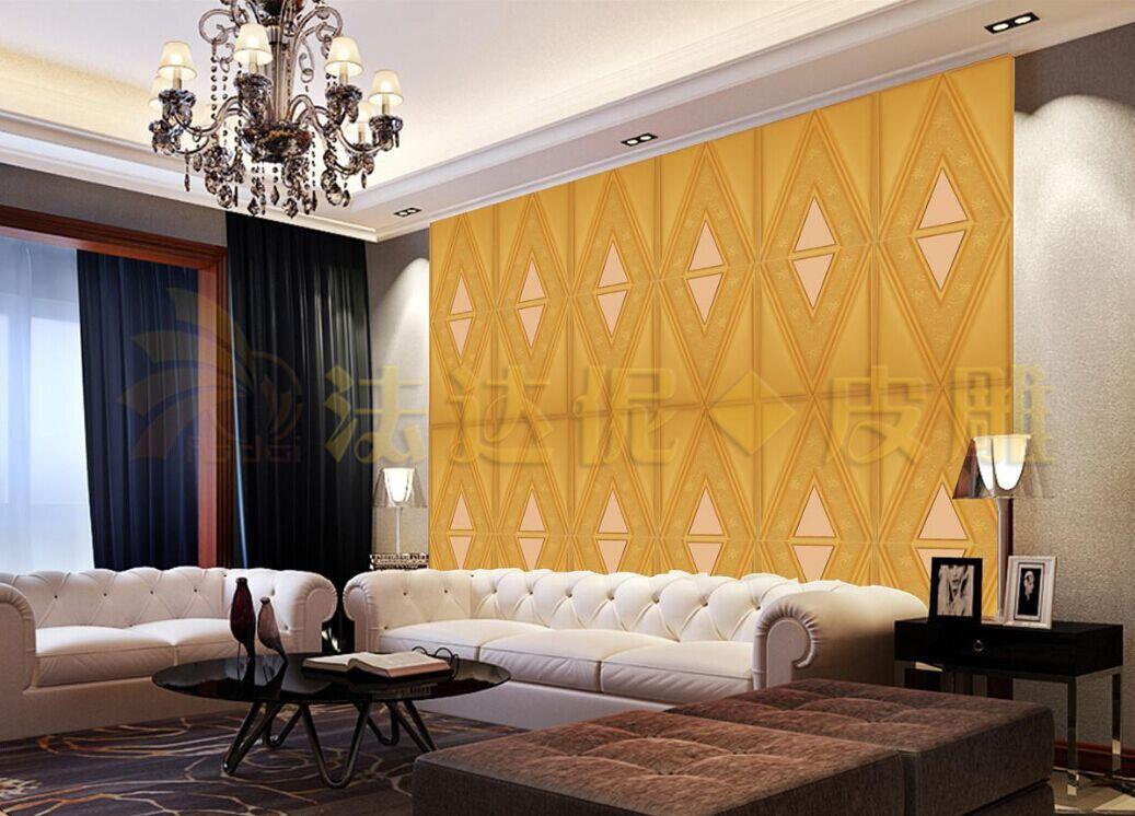 订制欧式现代菱形软包硬包皮雕客厅沙发电视卧室床头大堂厅背景墙图片