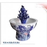 手绘陶瓷喷泉 陶瓷喷雾喷泉 空气加湿器陶瓷喷泉