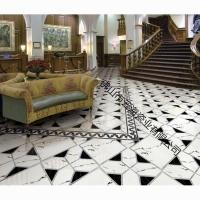 佛山玻化砖600*600爵士白/雅士白全抛釉地板砖客厅瓷砖