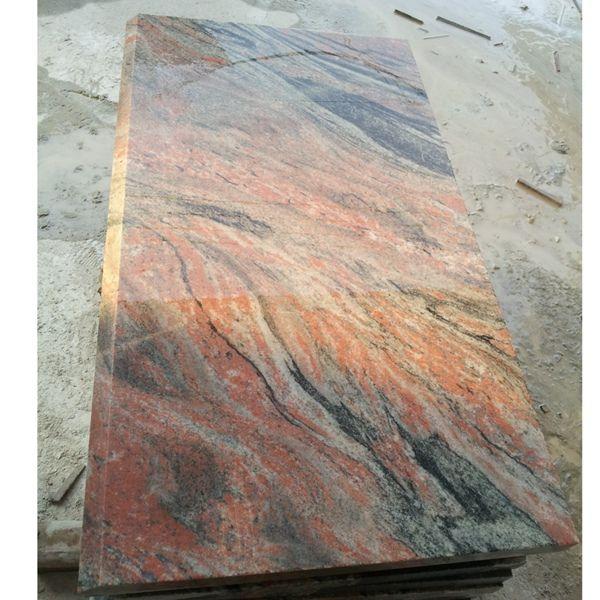 矿山优质国产幻彩红花岗岩石材幻彩白金
