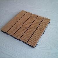 diy拼花木塑户外地板300*300*25 拼装地板安装简易